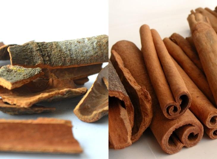 영미권에서는 계피와 시나몬을 각각 '카시아 바크'(Cassia bark)와 '시나몬'(Cinnamon)으로 명명해 구분한다.