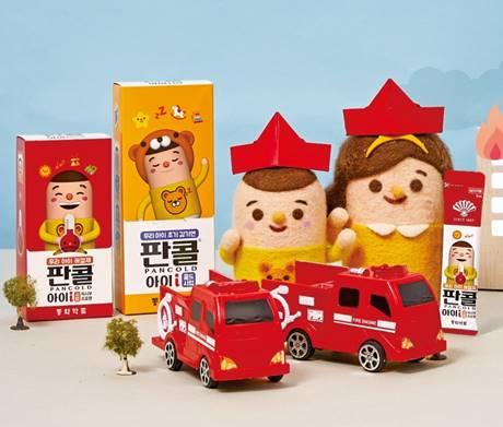 동화약품이 1일 출시한 어린이용 해열제 '판콜아이시럽'과 종합감기약 '판콜아이콜드시럽'