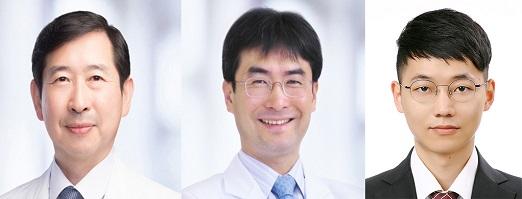 박기호서울대병원은 안과 교수(왼쪽부터), 박상민 가정의학과 교수, 장주영 서울대 의대 연구원