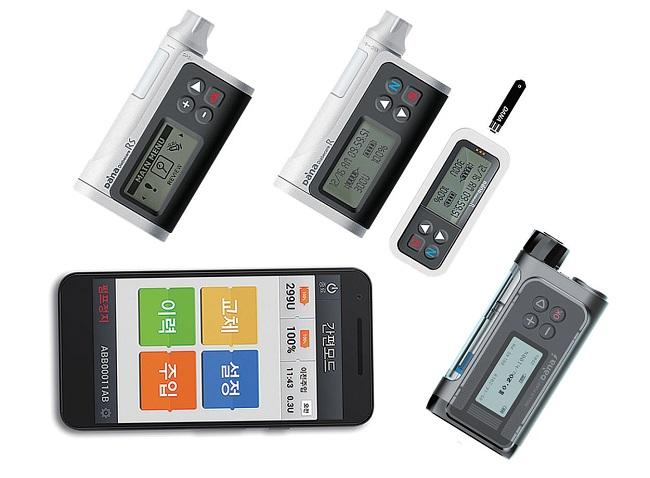 수일개발의 인슐린펌프 '다나아이'는 블루투스로 모바일 앱 '애니다나(AnyDana)'을 연결해 환자의 인슐린 주입량, 식사량, 운동량, 인슐린 주입 패턴 등을 스마트폰으로 실시간 확인할 수 있다.