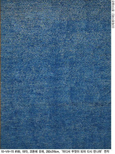미술전문가와 관객으로부터 가장 사랑받는 그림 '어디서 무엇이 되어 다시 만나랴'(1970, 코튼에 유채, 236×172cm, 환기미술관 제공)