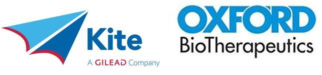 새로운 혈액암 및 고형암 표적항체를 공동 개발하기로 제휴한 카이트파마(왼쪽)와 옥스퍼드바이오테라퓨틱스 로고