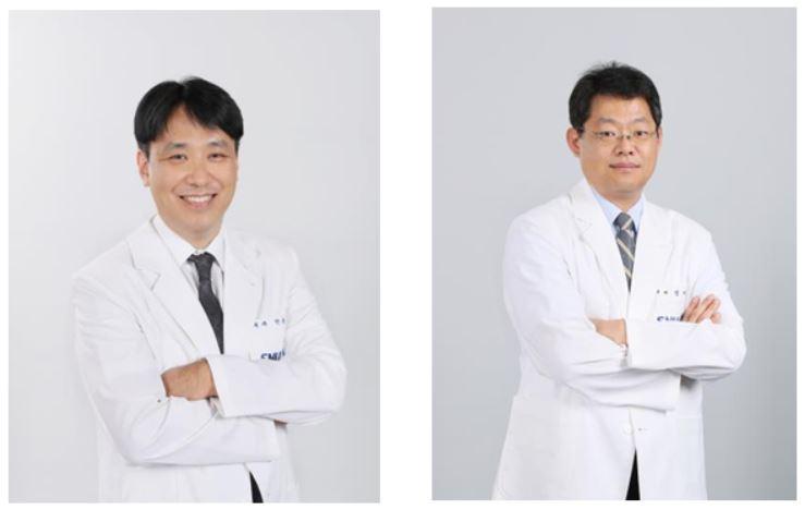 안동원(왼쪽)‧정지봉 서울시보라매병원 소화기내과 교수